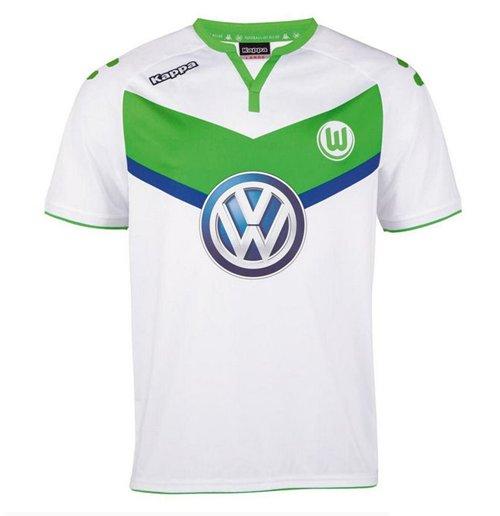 hot sale online f6c5f ff6b2 2015-2016 VFL Wolfsburg Kappa Home Shirt