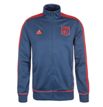 2015-2016 Lyon Adidas 3 Stripe Track Top (Night Marine)