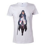 ASSASSIN'S CREED Syndicate Evie Frye T-Shirt, Large, White