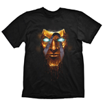 BORDERLANDS Men's Handsome Jack Golden Mask T-Shirt, Medium, Black