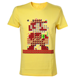 NINTENDO Super Mario Bros. Giant Mario 30th Anniversary Men's T-Shirt, Extra Large, Yellow