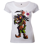 NINTENDO Legend of Zelda Majora's Mask Women's Skinny T-Shirt, Medium, White