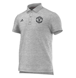 2015-2016 Man Utd Adidas Core BST Polo Shirt (Grey)