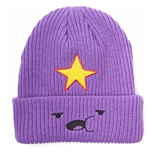 ADVENTURE TIME Lumpy Space Princess Face Unisex Fisherman Beanie, One Size, Purple