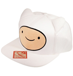 ADVENTURE TIME Finn Face with Ears Unisex Snapback Baseball Cap, One Size, White