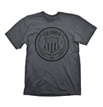 BIOSHOCK Columbia Customs & Excise 1907 Men's T-Shirt, Extra Large, Dark Grey
