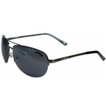 JACK DANIEL'S Large Dark Grey Lens with Dark Grey Thin Frame Unisex Sunglasses, One Size, Dark Grey