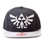 NINTENDO Legend of Zelda Twilight Princess Embroidered Royal Crest Logo Unisex Snapback Baseball Cap, One Size, Black/Grey