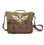 NINTENDO Legend of Zelda Skyward Sword Golden Royal Crest Unisex Canvas Messenger Bag, One Size, Green/Mauve