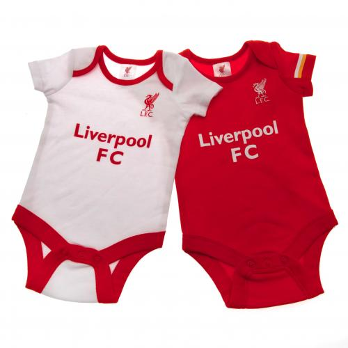 Liverpool F.C. 2 Pack Bodysuit 0/3 mths