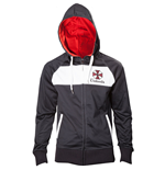 CAPCOM Resident Evil Umbrella Corporation Men's Full Length Zipper Hoodie, Small, Black/White