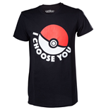 POKEMON I Choose You Men's T-Shirt, Medium, Black