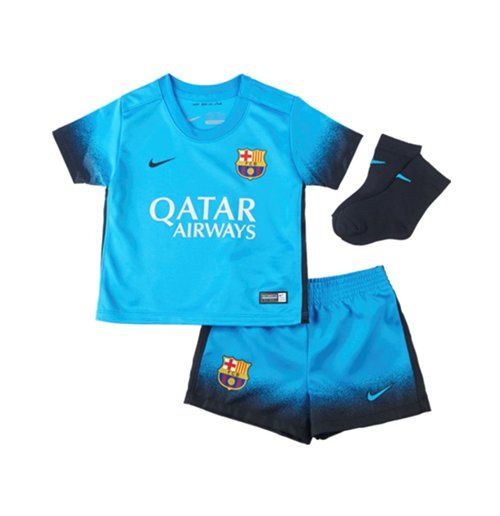 huge discount cd038 4db95 2015-2016 Barcelona Third Nike Baby Kit