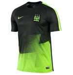 2015-2016 Man City Nike Pre-Match Training Shirt (Black-Ghost Green)