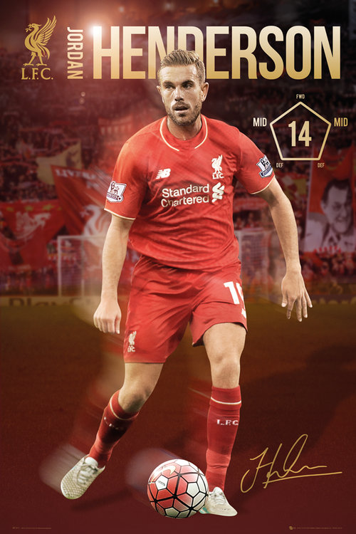 Liverpool Henderson 15/16 Maxi Poster