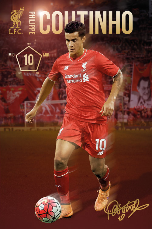 Liverpool Coutinho 15/16 Maxi Poster