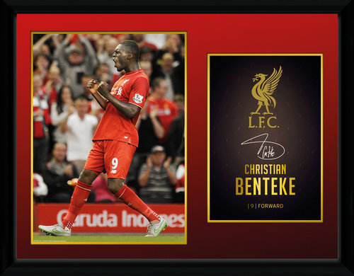 Liverpool Benteke 15/16 Framed Collector Print