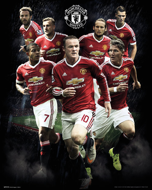 Manchester United Players 15/16 Mini Poster