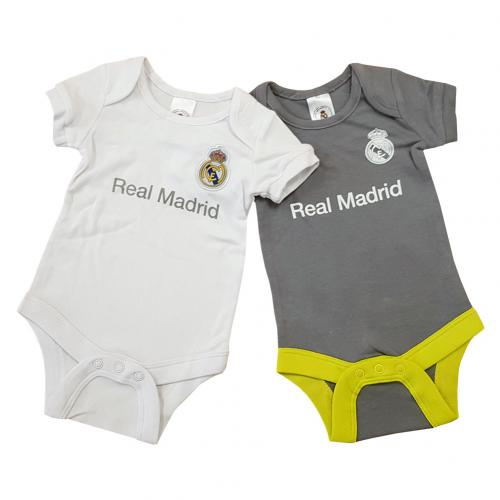 Real Madrid F.C. 2 Pack Bodysuit 0/3 mths