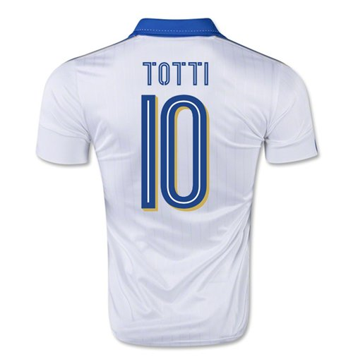 2015-16 Italy Away Shirt (Totti 10)