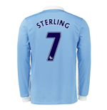 2015-16 Man City Long Sleeve Home Shirt (Sterling 7)