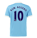 2015-16 Man City Home Shirt (Kun Aguero 10) - Kids