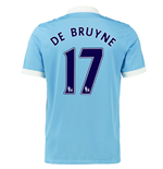 2015-16 Man City Home Shirt (De Bruyne 17) - Kids