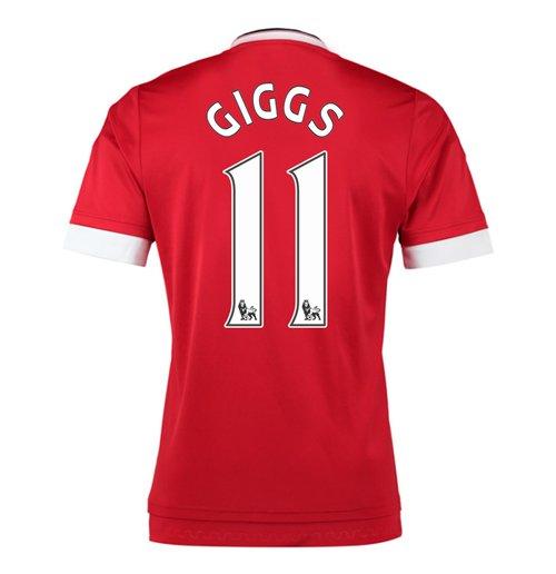 2015-16 Man United Home Shirt (Giggs 11) - Kids