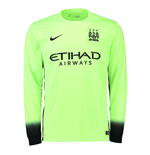 2015-2016 Man City Third Nike Long Sleeve Shirt