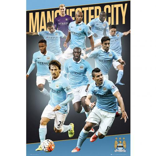 Manchester City F.C. Poster Players 15