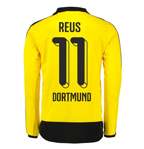 2015-16 Dortmund Home Long Sleeve Shirt (Reus 11) - Kids