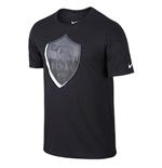 2015-2016 AS Roma Nike Crest Tee (Black-Grey)