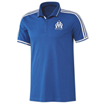 2015-2016 Marseille Adidas EU Polo Shirt (Blue)