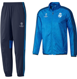 2015-2016 Real Madrid Adidas EU Presentation Tracksuit (Blue) - Kids
