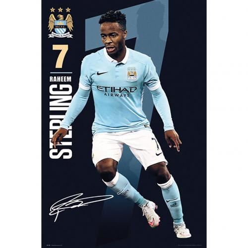Manchester City F.C. Poster Sterling 56