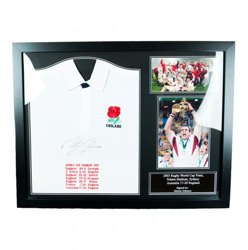 England R.F.U. Johnson Signed Shirt (Framed)