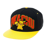 Pokemon Snap Back Baseball Cap Pikachu