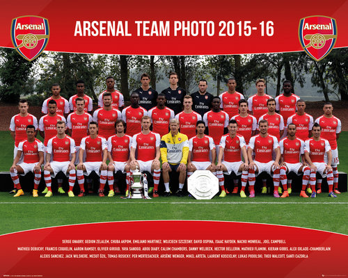 Arsenal Team Photo 15/16 Mini Poster