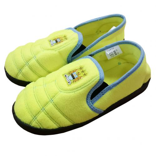 Manchester City F.C. Neon Slippers Junior 1/2