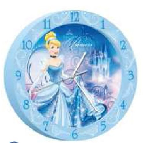 Official Cinderella Wall Clock 179549 Buy Online On Offer