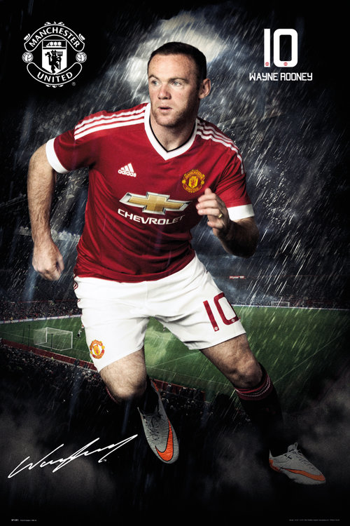Manchester United Rooney 15/16 Maxi Poster