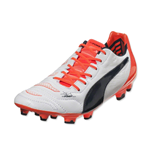 Puma Evopower 1.2 Leather FG Football Boots (White-Orange)