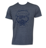 MILLER Lite Men's Blue Headphones Can T-Shirt