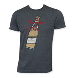 MILLER High Life Men's Gray Cartoon Bottle T-Shirt