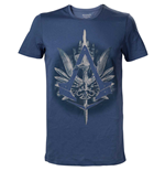 ASSASSIN'S CREED Syndicate Brotherhood Crest Logo with Cane Men's T-Shirt, Medium, Blue