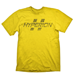 BORDERLANDS Hyperion Logo Men's T-Shirt, Small, Yellow (GE1706S)