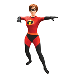 DISNEY Pixar Mrs Incredible Adult Unisex Cosplay Costume Morphsuit, Large, Multi-Colour