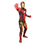 MARVEL COMICS Iron Man Adult Unisex Cosplay Costume Morphsuit, Extra Large, Multi-Colour