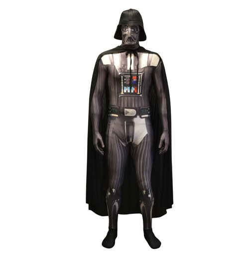 STAR WARS Darth Vader Adult Unisex Zapper Cosplay Costume Digital Morphsuit, Medium, Multi-Colour