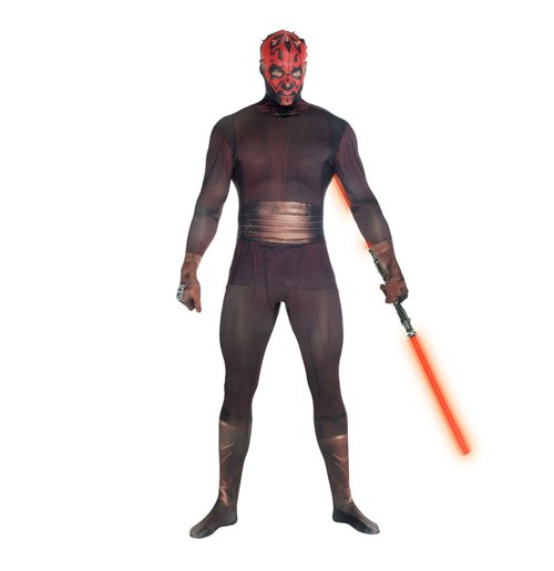 STAR WARS Darth Maul Adult Unisex Zapper Cosplay Costume Digital Morphsuit, Extra Large, Multi-Colour